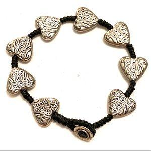 HEARTS Silver bracelet